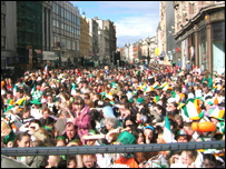 St Patrick's Day event last year in Belfast
