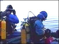 Divers at Dorothea Quarry in Gwynedd