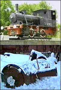 Ukrainian historic steam locomotive