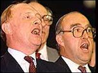 Photo of Neil Kinnock and the late John Smith