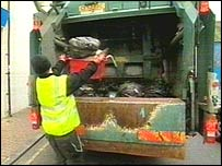 A refuse worker