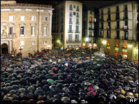 Manifestaci�n en Barcelona