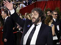 The Lord of the Rings director Peter Jackson on the red carpet