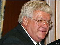 Dennis Hastert, speaker of the US House of Representatives