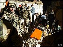 The blast scene