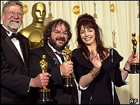 Barry Osbourne, Peter Jackson and Fran walsh