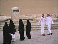 Saudis in traditional dress