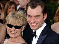 Jude Law and his mother Maggie
