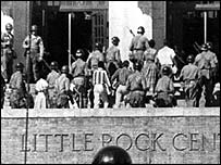 Little Rock, 1957: Desegregation defended by the National Guard