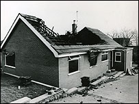 Working miner's home which was firebombed