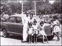 The Alagiah family in Ghana