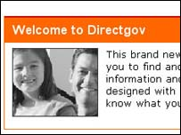 Screengrab of Directgov website, Cabinet Office