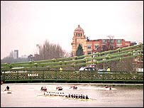 Oxford and Cambridge in action in 2001