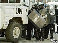 Police in Mitrovica