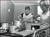 Women cooking for a soup kitchen