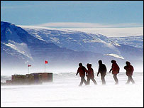 Harsh conditions of the Beardmore Camp, Andy Sajor/NSF
