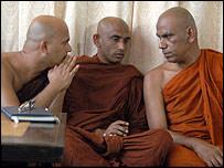 Monks from the Hela Urumaya Party