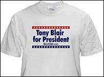 Blair 2004 campaign t-shirt