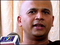 Venerable Uduwe Dhammaloka of the Hela Urumaya Party