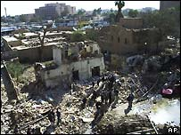 A massive bomb ripped through a hotel in Baghdad on 17 March