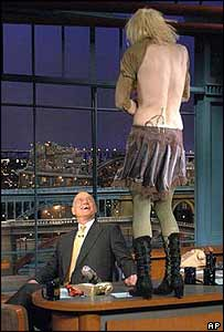 Courtney Love on the Late Show with David Letterman