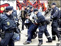 Danish police in action