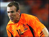Arjen Robben in action for Holland