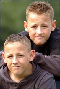 Luke and Ashley Campbell aged 13