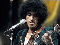 Phil Lynott from Thin Lizzy performing on Top of the Pops 