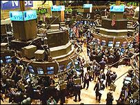 На фондовой бирже в Нью-Йорке