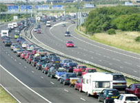Holiday traffic on the M4