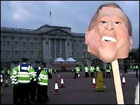 Protestors campaign against George W Bush's visit to London