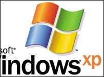 Close-up of Microsoft Windows XP logo, Microsoft