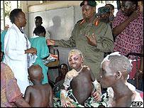 President Museveni visits survivors of the Lira attack