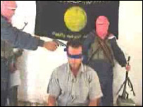 Internet picture of a man identifying himself as Murat Yuce, before he is apparently executed