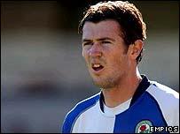 Blackburn midfielder Brett Emerton