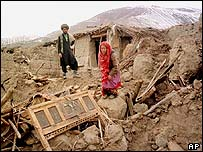 Aftermath of 1998 quake in northern Afghanistan