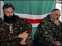 Шамиль Басаев и Аслан Масхадов