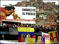 Pro-Chavez marchers