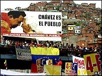 Pro-Chavez marchers