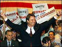 John Edwards rallies his supporters in Atlanta