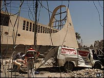 Baghdad church damaged by blast