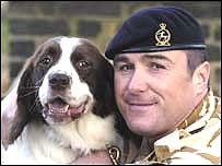 Sergeant Danny Morgan with award-winner Buster