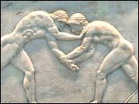 Барельеф с изображением древней Олимпиады