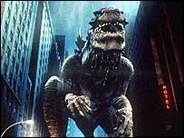 Godzilla in the US movie version (1998)