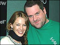 Kylie and Chris Moyles
