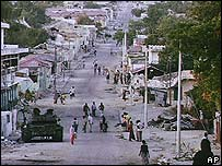 Street in Mogadishu after heavy fighting