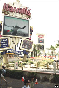 Harrah's and Caesars casinos in Las Vegas