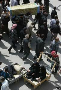 Iranian pilgrims in Karbala
