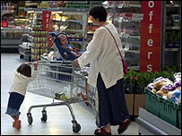 Many children have tantrums in the supermarket
